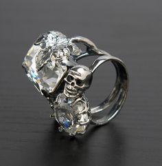 Skulls:  #Skull ring.