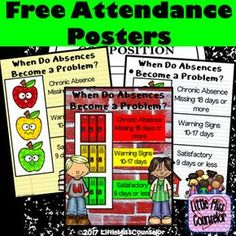 When Do Absences Become a ProblemThis freebie is my way of celebrating and thanking my 1000  followers on TpT!Promote and bring awareness to attendance by displaying these posters throughout your school.  Includes 7 posters to illustrate good attendance, warning signs, and chronic attendance.  (Adapted with permission from Attendance Works)                                 Youll Love This TooWild about Attendance Editable School Wide Kit.I Can Try Growth Mindset Emergent Reader.