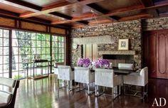 Modern Dining Room by Nancy Heller in Los Angeles, California
