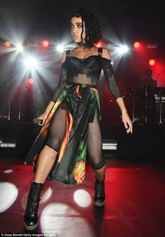 FKA Twigs wowed the crowd when she put on a racy show at an exclusive party by MAC Cosmeti...