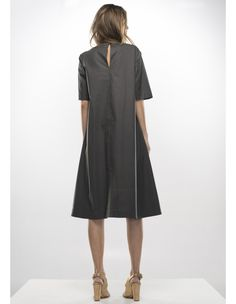 Shop and view the latest womenswear and accessories collection from the official Adelina Ivan website. Gray Dress, Duster Coat, Women Wear, Dresses For Work, Jackets, Shopping, Clothes, Collection, Studio