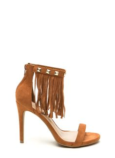 Rock This Way Fringe Heels WHISKY BLACK - GoJane.com