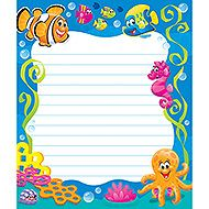 Sea Buddies<sup>™</sup> Note Pad – Rectangle from TREND. Teacher-created, award-winning learning products for Pre-K to Grade 9. TRENDenterprises.com.