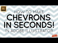 Adobe Illustrator Tutorial: Make a Chevron in Seconds — Matt Borchert - Premium Design and Illustration Resources