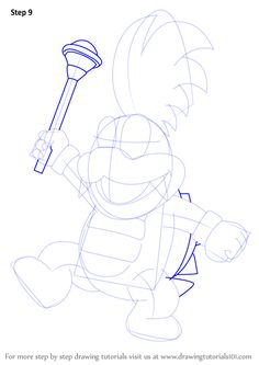 Learn How to Draw Larry Koopa from Koopalings (Koopalings) Step by Step : Drawing Tutorials