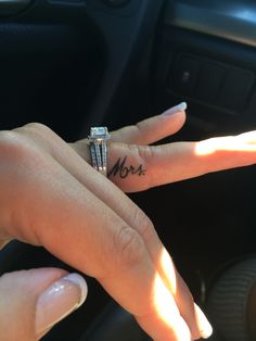 Mrs finger tattoo