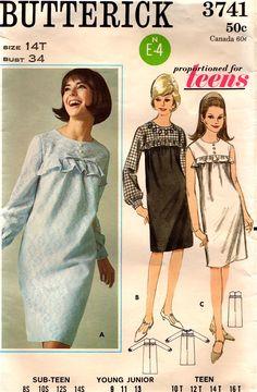 60s shift Dress cartamodelli 3741 Vintage Sewing Pattern di stumbleupon su Etsy https://www.etsy.com/it/listing/198255893/60s-shift-dress-cartamodelli-3741