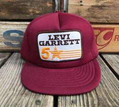 a4a076e3e92 LEVI GARRETT 5 Star Chewing Tobacco Vintage 80s Maroon Snapback Trucker Hat  by RebelFrayVintage on Etsy