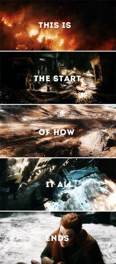 This is the start of how it all ends #thehobbit