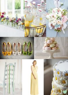 Spring Sunshine #Wedding Styling Ideas Mood Board from The Wedding Community