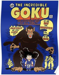 Legend of Goku. A Dragon Ball t-shirt in the style of the original Incredible Hulk comic book. Art by OtakuTeez. Incredible Beasts, Goku T Shirt, Dragon Ball Z Shirt, Hulk Comic, Fantasy Monster, Anime Fantasy, Manga Characters, Fanart, Sketches