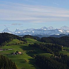 From my grandfather Rudy's farm in the Emmenthal Switzerland. Behold the Swiss Alps.