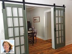 thisoldhouse.com | from Sliding Barn Doors: A Story Behind Every Door....exactly what I want for the dining room