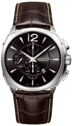 Men's Wrist Watches - Hamilton Mens H36516535 Jazzmaster Black Dial Cushion Watch *** Be sure to check out this awesome product. (This is an Amazon affiliate link)