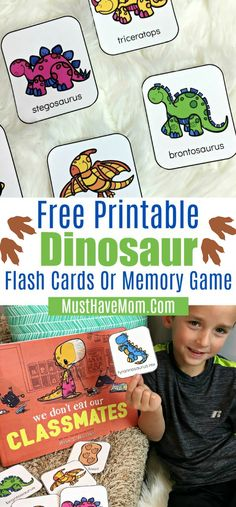 Free Printable Dinosaur Games + Back To School Anxiety