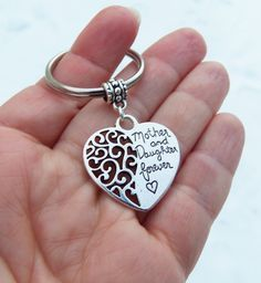 Mothers day keychain daughter keychain Mother Daughter Forever mothers day gift daughter gift daughter birthday gift mom birthday gift (3.99 USD) by BubbleGumGraffiti