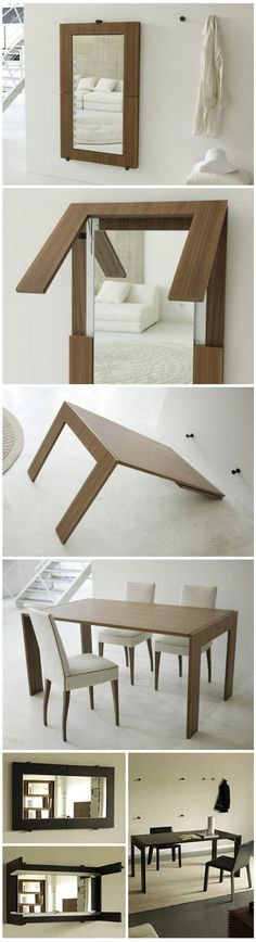 Clever Mirror-table.