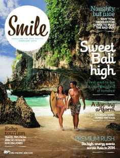 Cebu Pacific covers the island of romance, just in time for Valentine's Day, in the February issue of Smile magazine. Magazine Images, Magazine Design, Magazine Covers, Cebu Pacific, Travel Magazines, Poster Designs, Most Beautiful Beaches, Travel Advice, Daydream