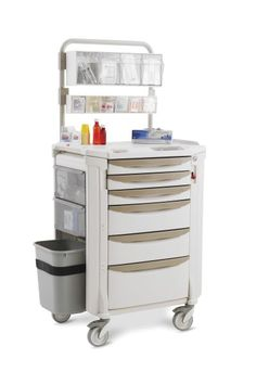 Flexline Medication Cart - Unique flexibility, contemporary styling, corrosion-proof with Microban antimicrobial protection. Perfect for today's laboratory and healthcare related environments. Dental Office Design, Office Interior Design, Plywood Furniture, Furniture Decor, Bedroom Furniture, Modern Furniture, Furniture Design, Dental Cabinet, Hospital Architecture