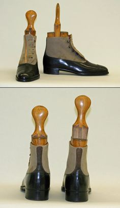 [British] Wool/Leather Shoes (ca. 1910)