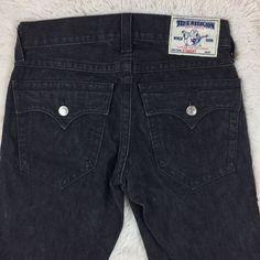 True Religion Men's Ricky Straight Leg Jeans Black Wash Sz 30 x 29  | eBay