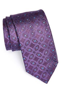 Canali+Geometric+Woven+Silk+Tie+available+at+#Nordstrom