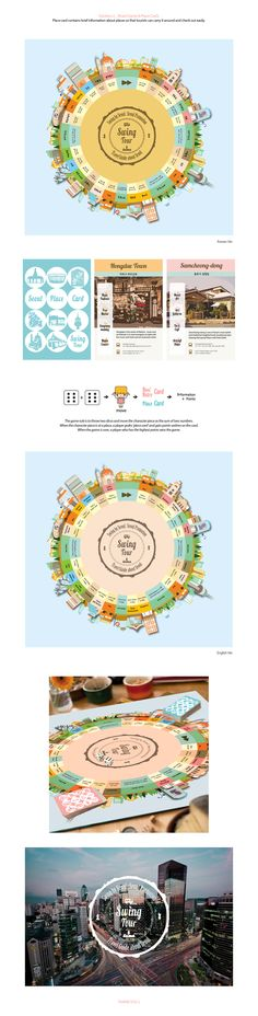 Swing Tour is a board game created to promote Seoul. Instead of promoting directly to tourists, this helps tourists to naturally learn about the attractions and places in Seoul while playing the game. We do not need much to enjoy Seoul by designing a frie…