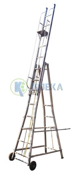 #Ladders  Perfect for Electrical works, Domestic reason, or any Industrial activity at a stature.  Made from High Tensile Aluminum Alloys.   A prudent assortment in aluminum tower, broadening area modifies Intermediately. Exquisite, solid, light in weight, incredibly helpful where no divider Support is accessible to stepping stools   Outfitted with Manila Rope, Pulley, Safety locks, Safety Ring, Solid Polymer wheel for Better development. Aluminium Ladder, Aluminium Alloy, Manila Rope, Ladders, Pulley, Stools, Locks, Divider