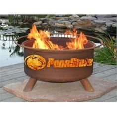 Penn State University Portable Steel Fire Pit Grill