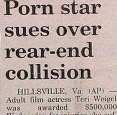 When this headline happened.