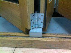 folding door rail hinge 4 Pocket Door Hardware, Pocket Doors, Barn Door Hardware, Balcony Doors, Porch Doors, Sliding Gate, Sliding Glass Door, Rebar Detailing, House Shutters