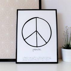 "Print ""peace"" by m.belle"