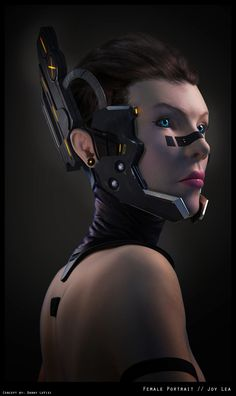 Cyberpunk, Cyborg, Future, Futuristic, Joy Lea Holle by *GnomonSchool on deviantART