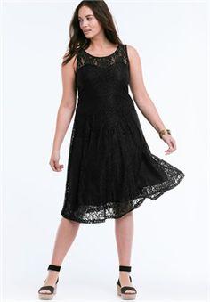 Sleeveless Stretch Lace Dress