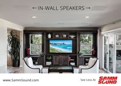 Sonance Visual Performance Series features a low-profile grille aesthetic that provides a discrete design that blends speakers cleanly into the wall or ceiling and is never distracting. Call SAMM Sound to learn how to beautify your home.
