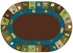 Learning Blocks Nature Rug 6' x 9' Oval