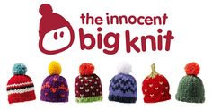 the innocent big knit. Knitting little hats to raise money to help keep older people warm in winter. Innocent drinks raising money for Age UK Tea Cosy Knitting Pattern, Knitting Patterns Free, Knit Patterns, Free Knitting, Crochet Amigurumi, Knit Crochet, Crochet Hats, Knitting Projects, Crochet Projects