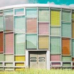 so lovely: Matthias Heiderich colorful exterior photography multi color blinds Palette Pastel, Pastel Colors, Colours, Pastels, Pastel Shades, Bright Colors, Interior Architecture, Interior And Exterior, Installation Architecture
