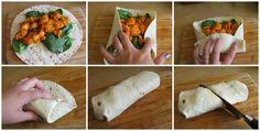 How to Fold a Wrap Like a Professional - Buffalo Chicken Wrap Recipe - Crispy Chicken Wrap - #ClipForSchool