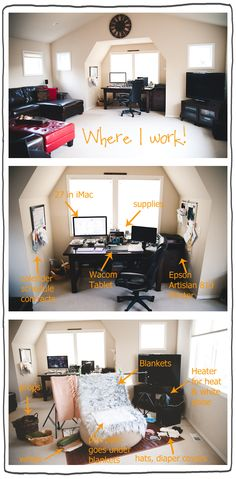 Great breakdown of work space and flow.
