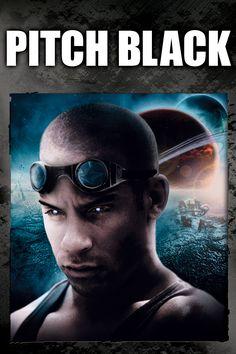Pitch Black Movie Poster - Vin Diesel, Radha Mitchell, Keith David  #PitchBlack, #VinDiesel, #RadhaMitchell, #KeithDavid, #DavidTwohy, #Thriller, #Art, #Film, #Movie, #Poster