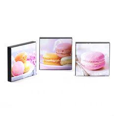 Set de 3 tableaux Rose - Macarons - Toiles décoratives - Affiches et déco murale - Salon et salle à manger - Décoration d'intérieur - Alinéa