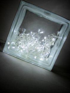 Luminária de Vidro 100 lampadas  brancas - alto brilho - LED -  4 funçoes 127W Funciona ligada a uma tomada.(127 W) 19 x 19 x 8cm