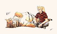 Calvin and Hobbes 2010 by ~nami86 on deviantART