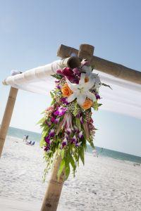 Fresh Flowers for Your Beach Wedding Arbor...