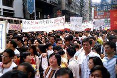 1989年5月28日全球華人大遊行.