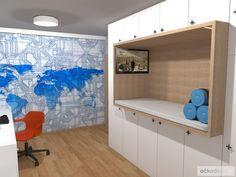 Dětský pokoj pro malého technika – RD Moravičany   očkodesign Bunk Beds, Loft, Furniture, Home Decor, Decoration Home, Loft Beds, Room Decor, Lofts, Home Furnishings