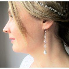 Pendantes d'oreilles mariage-esprit Bohème, romantique.