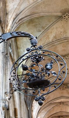 Wrought Iron Museum in church in Rouen, France.