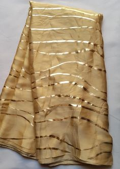 GOLDEN Pure Satin Silk Designer Saree Zig Zag Printed Girlish Sari With Golden Plain Unstitched Blouse Fabric Dress Material Golden Saree, Latest Sarees, Saree Blouse, Sari, Dream Dress, Silk Satin, Silk Sarees, Floral Prints, 100 Pure